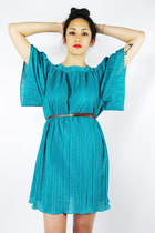 Turquoise-blue-angel-sleeve-trashy-vintage-dress