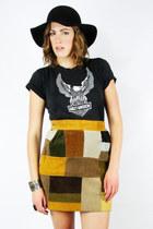 mustard patchwork suede Trashy Vintage skirt
