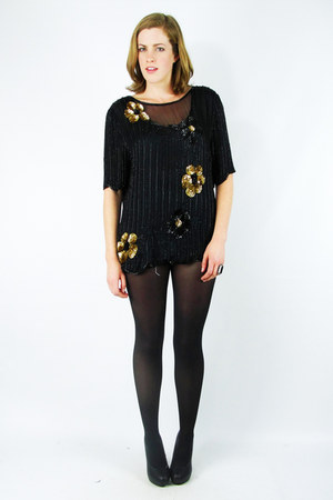 black gold sequin Trashy Vintage blouse