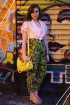 vintage top - TJ Maxx bag - Forever 21 sandals - Forever 21 pants