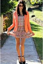 neutral selena dress - orange pop blazer