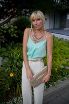 wilfred pants - Club Monaco purse - Anthropologie necklace - Talula top