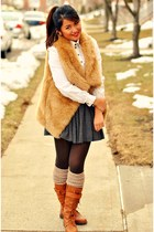 fur vest Zara coat