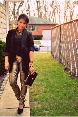 gold skinny jeans pants