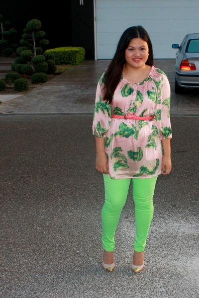 lime green Agaci pants