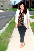 DDs blazer - DKNY shoes - cotton on blouse - Grass pants