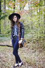 Navy-skinny-imogene-willie-jeans-black-wool-jigsaw-london-hat