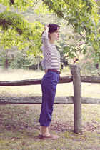 navy high waisted vintage pants