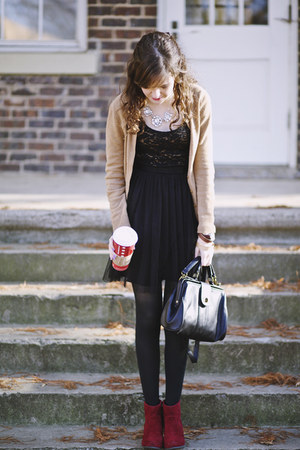 black lace BeBop dress - brick red ankle ONeill boots
