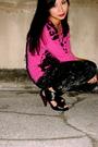 Pink-mango-blouse-gray-babo-pants-black-ecko-accessories-black-the-ramp-sh