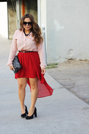 Forever 21 skirt - Target shoes - Zara bag - Nordstrom sunglasses
