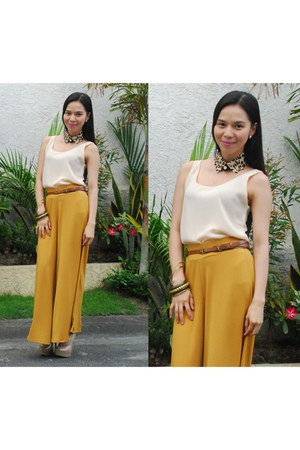 Pumpkins Closet top - Forever 21 belt - Zara pants - Brash pumps