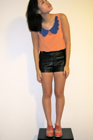 leather H&M shorts - asos shoes