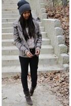 Khombu boots - Aeropostale jacket - vintage top