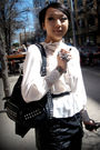 White-vintage-blouse-black-f21-skirt-silver-assorted-accessories-black-bel