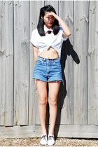 white American Apparel shirt - white American Apparel flats