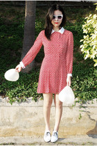 white American Apparel shoes - ruby red Ezzentric Topz dress