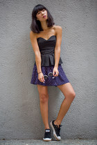 black Pinko top - violet Monki skirt - black Converse sneakers