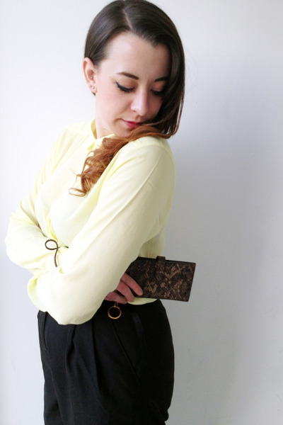 collar Monki shirt - capulet london bag - next pants