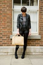 black Topshop jacket - black Office shoes - black Henry Holland for Debenhams sh