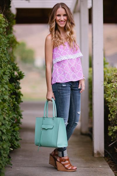 Sugar Love Boutique top - Rebecca Minkoff bag