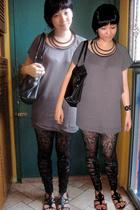 from Hong Kong dress - Topshop tights - Urbanogcom shoes - H&M purse - Giordano