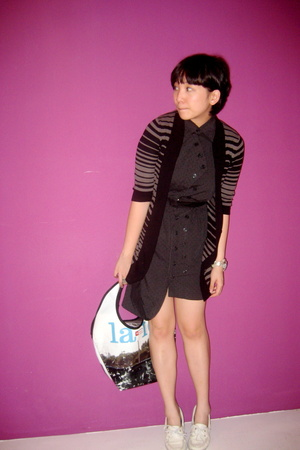 g2000 jacket - Melly dress - Demano purse - Sperry Top Sider shoes