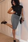 Gray-costa-blanca-skirt-black-aldo-boots-vintage-blouse-black-aldo-black