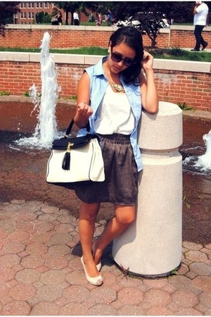 aldos bag - H&M wedges - Forever 21 skirt
