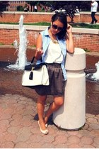 aldos bag - H&M wedges - Forever 21 skirt