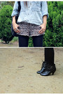 Black-unknown-boots-light-blue-vintage-shirt-black-mimco-bag-light-brown-c