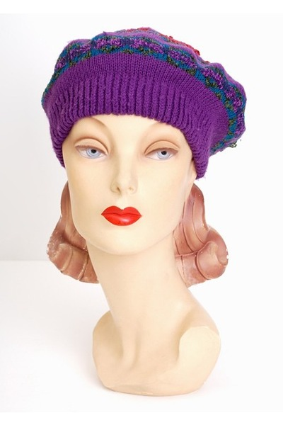 purple vintage hat