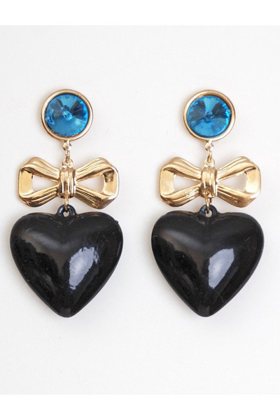 black vintage earrings
