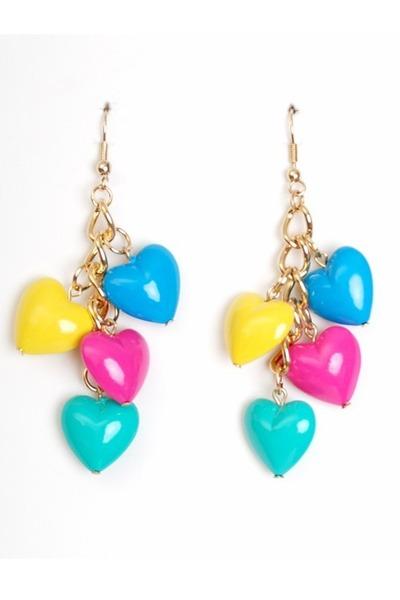 turquoise blue vintage earrings