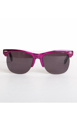 purple round plastic vintage sunglasses