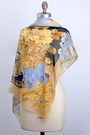Black Vintage Leonard Paris Scarves