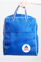 Vintage 60s MOD Delta Airlines Flight Tote Bag
