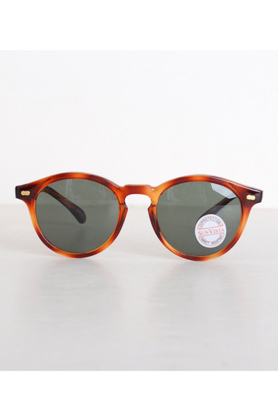 burnt orange vintage sunglasses
