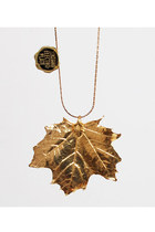 Vintage 70s Gold Maple Leaf Pendant Necklace  Ask a Question