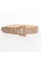 Vintage 80s 90s Brown Snakeskin Wide Leather Belt