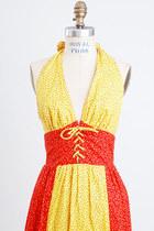 Yellow-vintage-dress