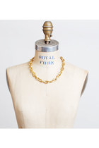 Vintage 80s 90s Gold Textured Chain Necklace