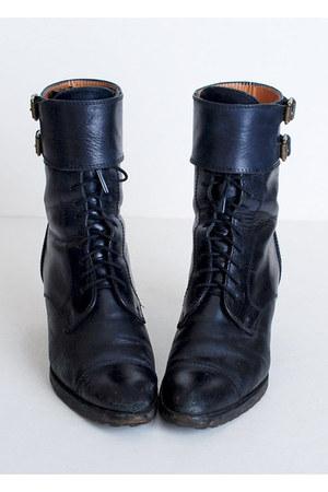black Vintage Ralph Lauren shoes
