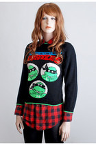 Vintage 80s 90s Teenage Mutant Ninja Turtles Sweater 
