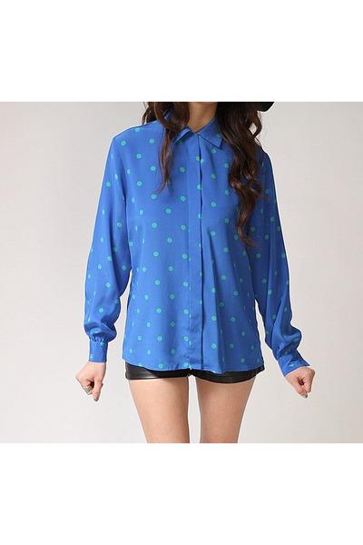 blue John Meyer blouse