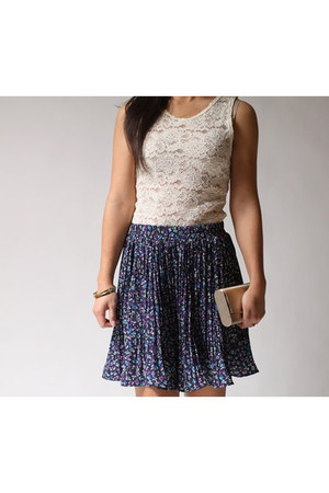navy Coldwater Creek skirt