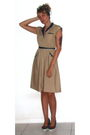 Beige-prototype-vintage-dress-blue-online-vegan-shoes-gold-clothing-swap-sc