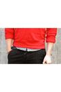 Black-topman-pants-ruby-red-american-apparel-sweater