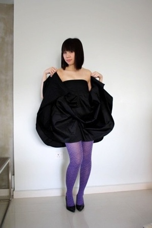 local label  dress - Anna Sui tights - Mphosis shoes