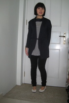 blazer - dress - tights - shoes